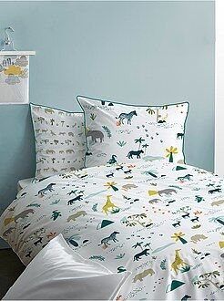 Parure letto double face 'safari' - Kiabi