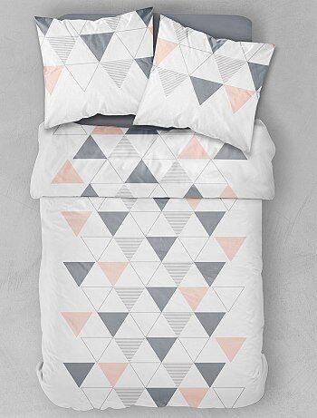 Parure letto matrimoniale stampa geometrica - Kiabi