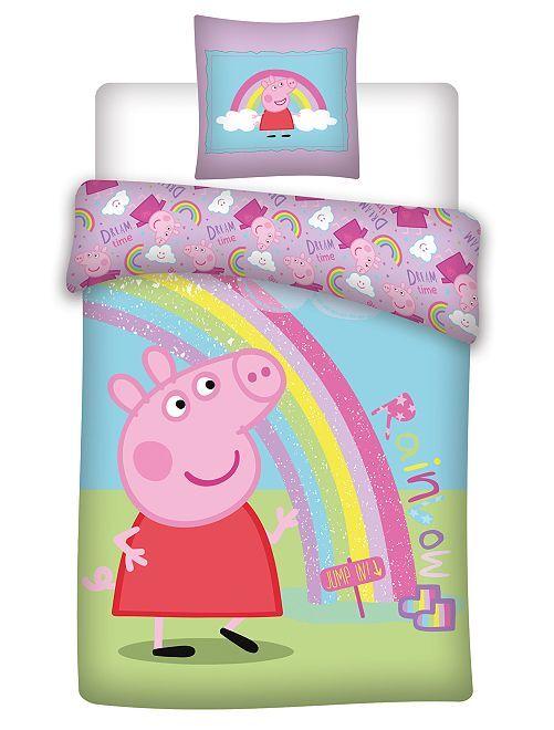 Parure letto microfibra 'Pegga Pig'                             BLU
