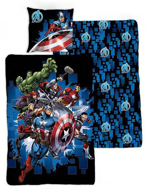 Parure letto singolo 'Avengers'                             blu marine