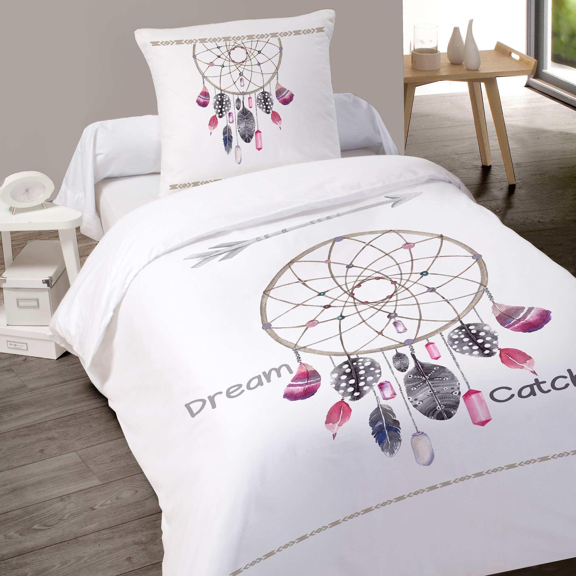 Parure letto singolo cotone Casa - bianco - Kiabi - 20,00€