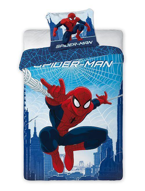 Parure letto singolo 'Spider-Man'                             blu/rosso