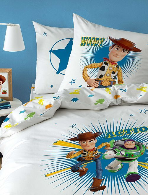 Parure letto singolo 'Toy Story'                             bianco