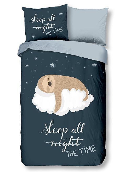 Parure letto 'sleeping'                             blu marine