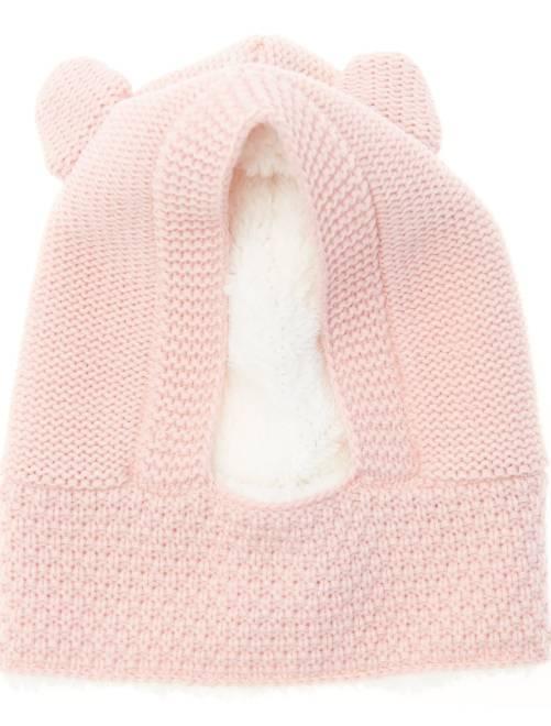 Passamontagna foderato applicazione orecchie                                         rosa Infanzia bambina