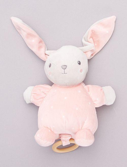 Peluche coniglietto musicale                                                     rosa