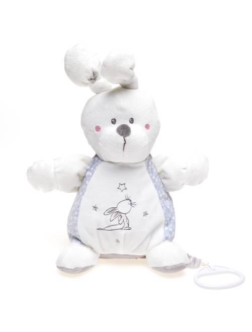 Peluche musicale coniglietto                                                     bianco/grigio Neonato