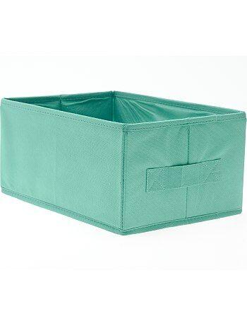 Piccola cesta pieghevole casa verde turchese kiabi 3 00 for Piani di piccola casa verde