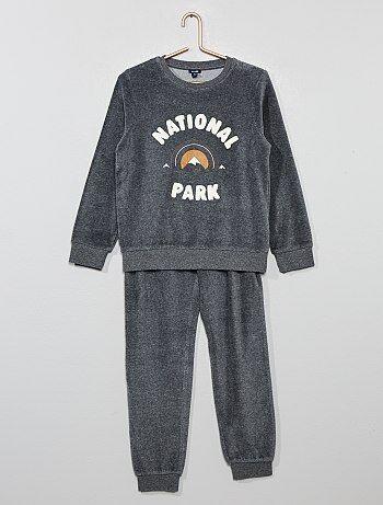 f17ce59e53 Bambino 3-12 anni - Pigiama ciniglia stampa maglia bouclé - Kiabi