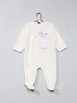 Bambino 0-36 mesi - Pigiama ciniglia stampa 'pecora' - Kiabi