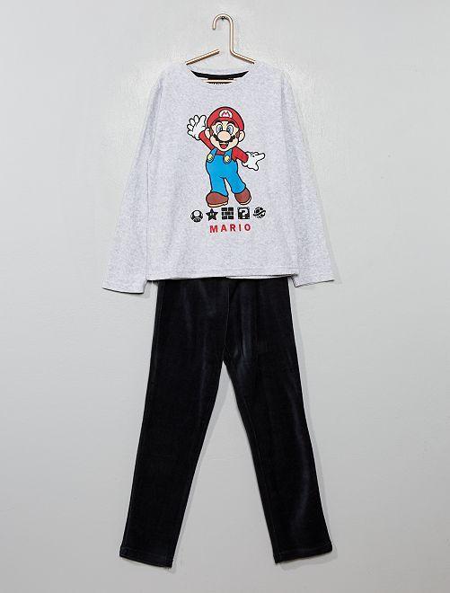 Pigiama ciniglia 'Super Mario'                             grigio scuro
