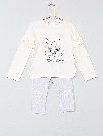 Bambina 0-36 mesi - Pigiama con volant 'Miss Bunny' - Kiabi