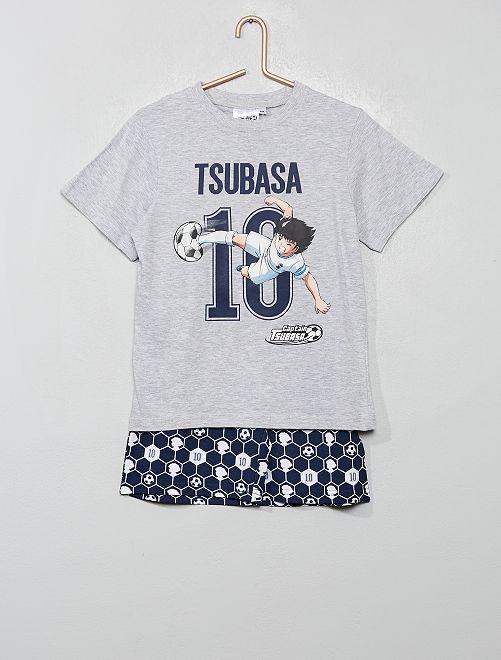 Pigiama corto 'Captain Tsubasa'                                         grigio
