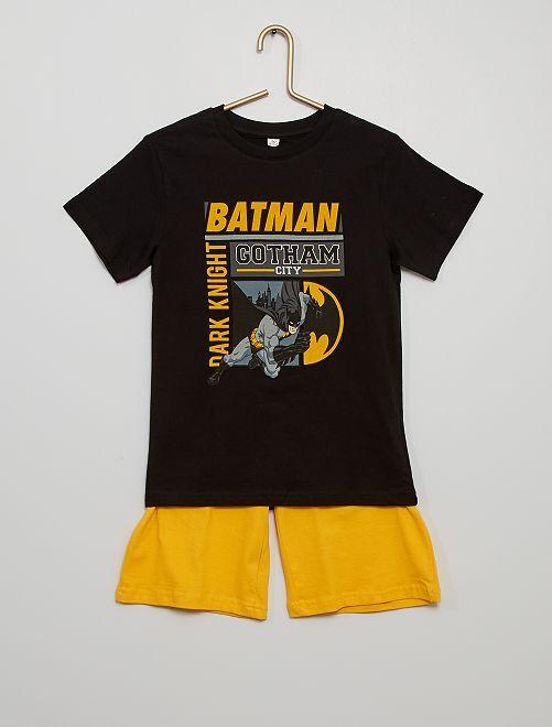 Pigiama corto in cotone 'Batman'                             nero/giallo