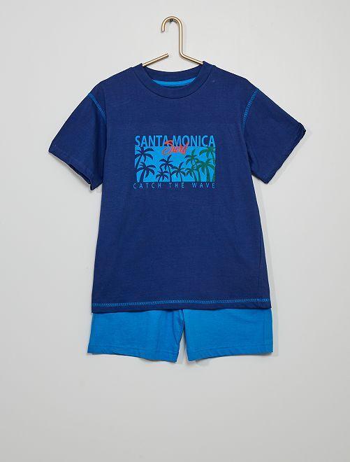 Pigiama corto                             marine/blu