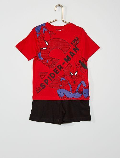 Pigiama corto 'Spider-Man''                                         rosso/nero