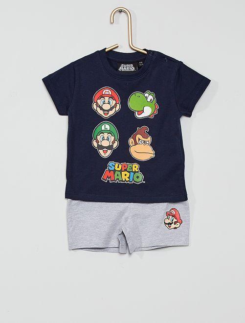 Pigiama corto 'Super Mario'                             NERO