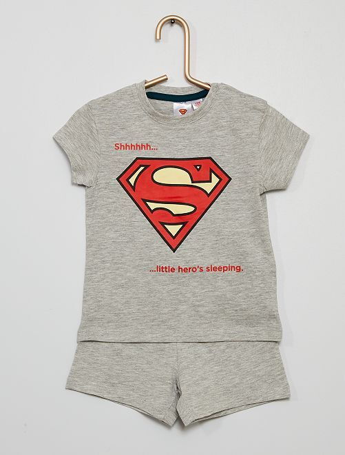 Pigiama corto 'Superman'                             GRIGIO