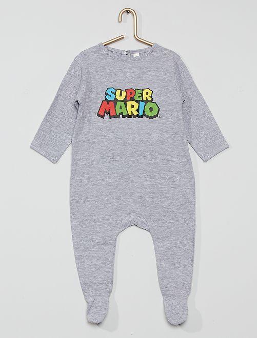 Pigiama in cotone 'Super Mario'                             grigio