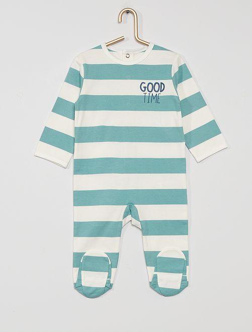 Pigiama in jersey 'eco-sostenibile'                                                                                                                                                                                                                                                                 BIANCO/blu