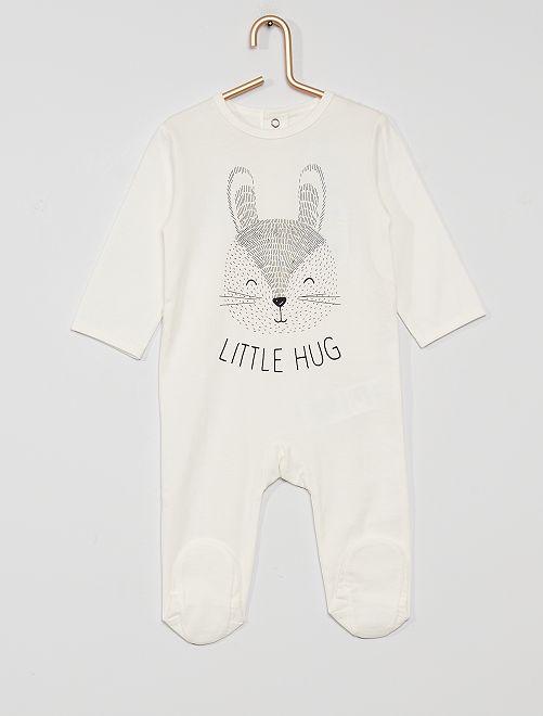 Pigiama in jersey 'eco-sostenibile'                                                                                                                                                                                                                                                                 coniglio