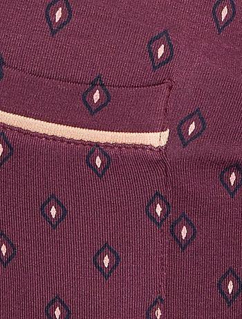 ... Pigiama jersey stampa cravatta vista 5. Pigiama jersey stampa cravatta  viola Taglie forti donna a54c1386091