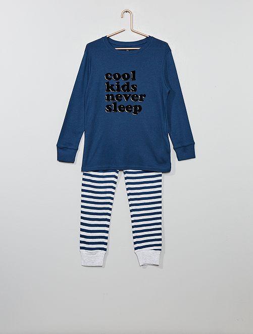 Pigiama jersey stampato                                                     BIANCO Infanzia bambino