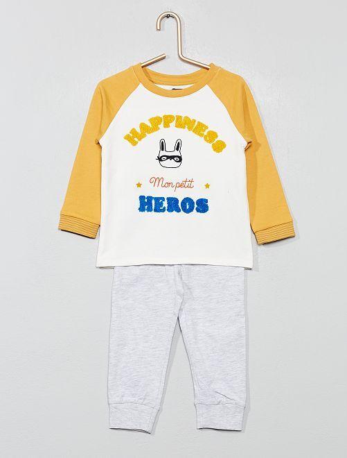 Pigiama lungo jersey                                         BIANCO Neonato