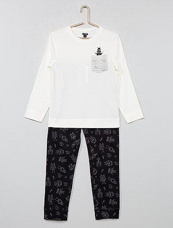 Bambino 3-12 anni - Pigiama lungo jersey con stampa - Kiabi