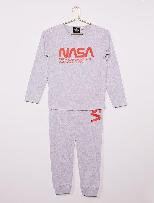 Pigiama lungo 'NASA'                             grigio