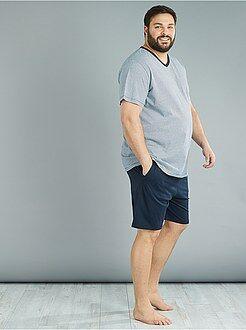 Taglie forti Uomo - Pigiama pantaloncini 2 pezzi - Kiabi