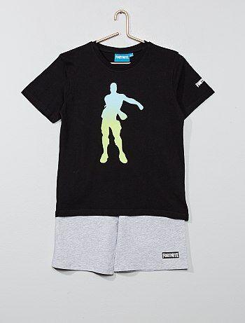 6b64c4cd0a Bambino 10-18 anni - Pigiama pantaloncini 2 pezzi 'Fortnite' - Kiabi