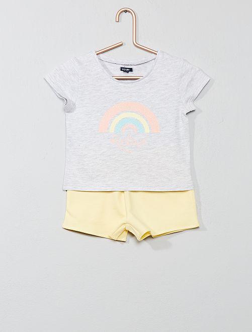 Pigiama pantaloncini 'arcobaleno'                                         BLU Infanzia bambina