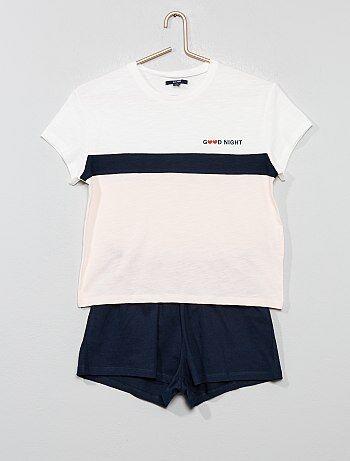a2600aec82 Bambina 10-18 anni - Pigiama pantaloncini jersey - Kiabi