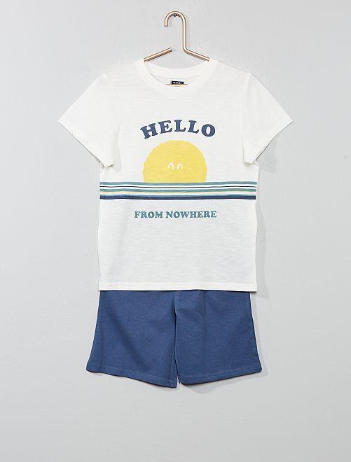 Pigiama pantaloncini 'oceano'                                                                 BIANCO Infanzia bambino