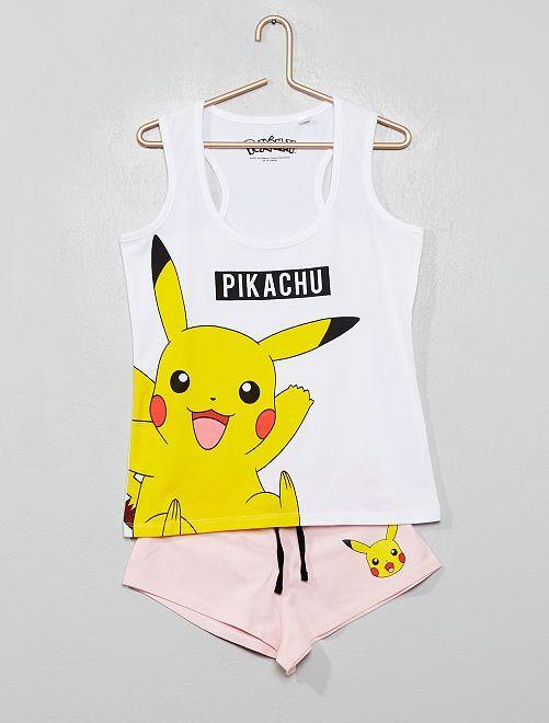 Pigiama pantaloncini 'Pokemon'                             ROSA
