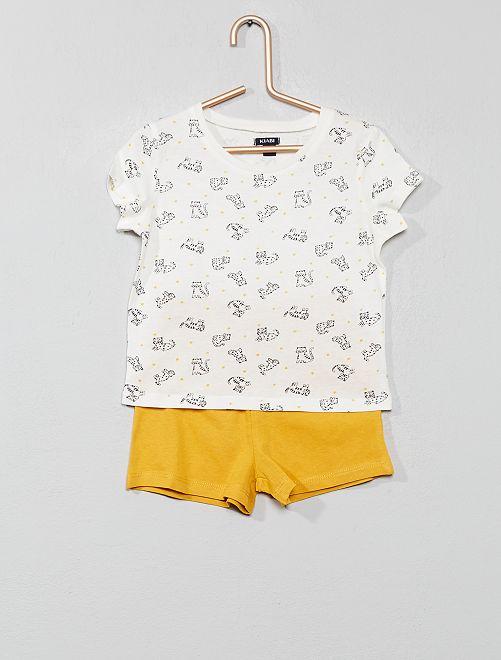 Pigiama pantaloncini stampato                                 GIALLO Infanzia bambina