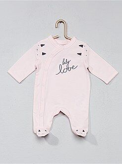 Bambina 0-36 mesi - Pigiama stampa in sbieco - Kiabi