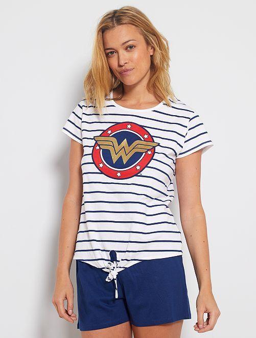 Pigiama 'Wonder Woman'                             BIANCO
