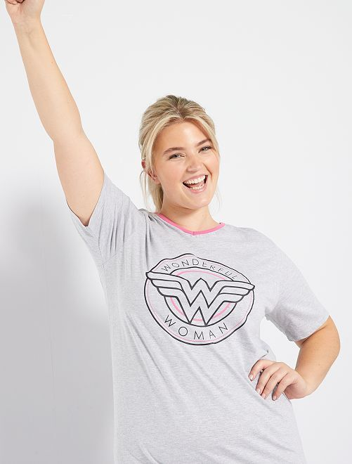 Pigiama 'Wonder Woman'                             grigio/rosa