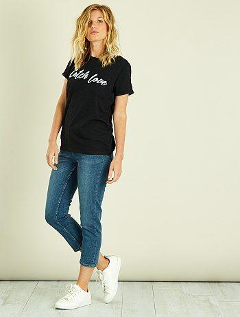 Donna dalla 38 alla 52 - Pinocchietti jeans con bottoni - Kiabi
