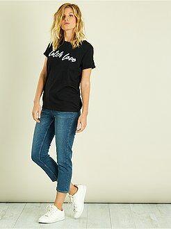 Pinocchietti, pantaloncini - Pinocchietti jeans con bottoni - Kiabi