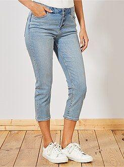 Pinocchietti jeans con bottoni - Kiabi
