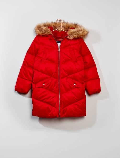 Piumino trapuntato con cappuccio                                                     rosso Infanzia bambina