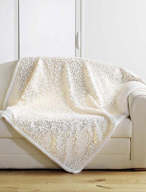 Plaid in pelliccia sintetica                             beige