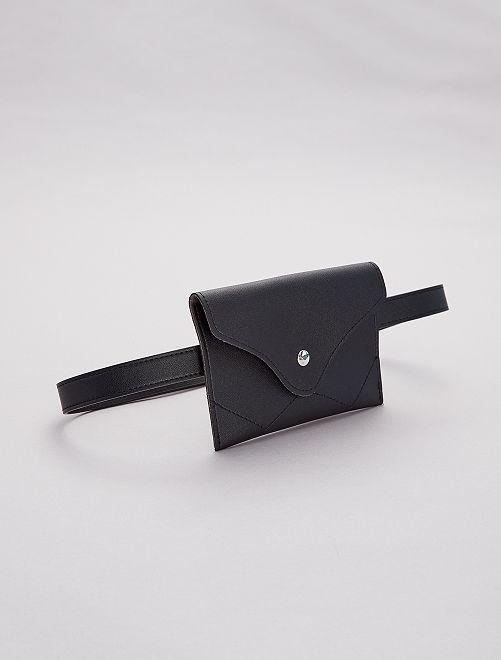 Pochette cintura similpelle                             nero