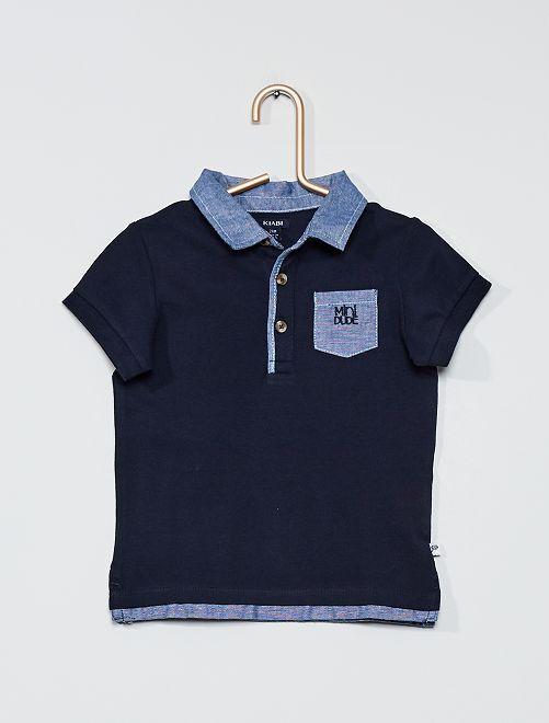 Polo in maglia piqué                                         BLU