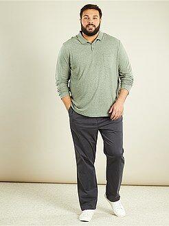 Polo - Polo maniche lunghe maglia screziata