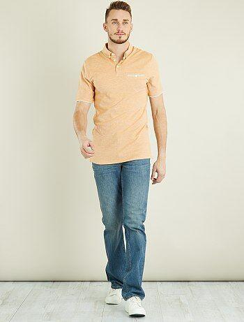 Polo piqué cotone bicolore + 1 m 90 - Kiabi