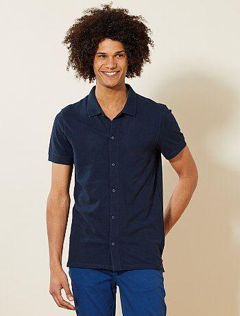 Polo piqué stile camicia - Kiabi